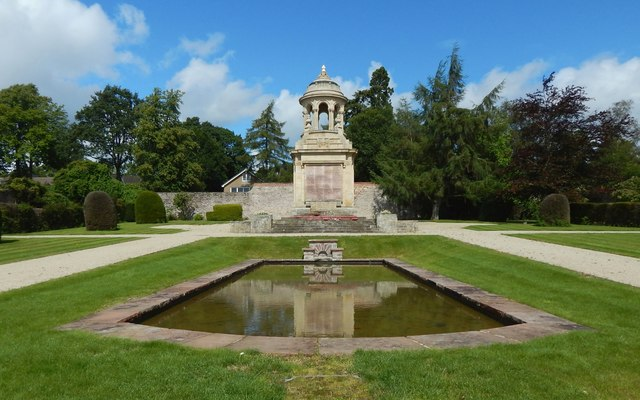 War Memorial and pond