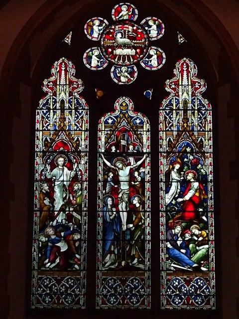Stained glass window, Welland church