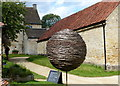 SK9224 : Willow sphere at Woolsthorpe Manor by Mat Fascione