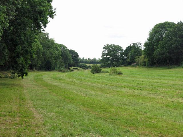 Farmland northwest of Pipers Farm