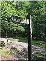 SK2579 : Footpath sign in Padley Gorge by Graham Hogg
