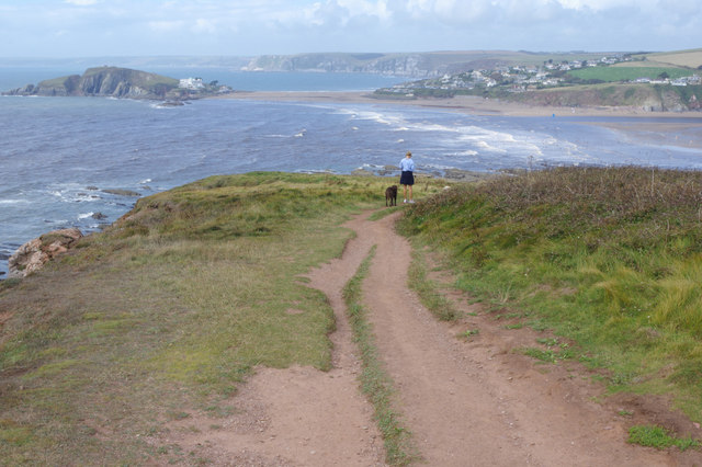 South West Coast Path towards Bantham