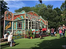 NT2572 : Spiegeltent George Square Gardens Edinburgh by Jennifer Petrie