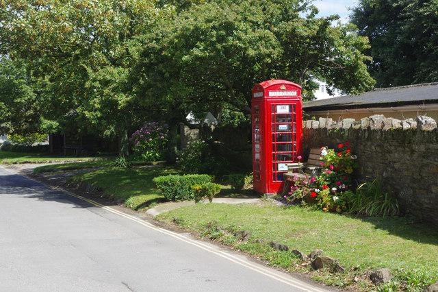 Old telephone box, Thurlestone