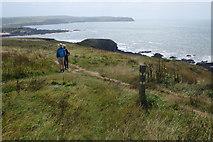 SX6642 : Coast path near Thurlestone by Stephen McKay