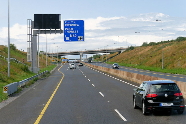 Westbound M7 at Junction 22