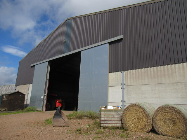Big shed, small shed near Preston in the Scottish Borders