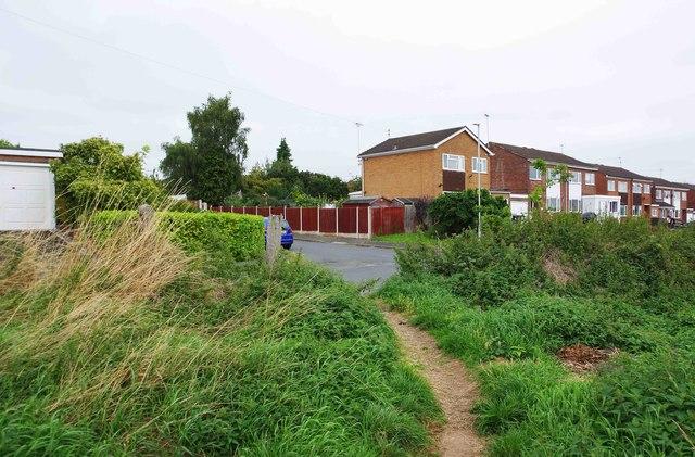 Start of bridleway, Marlborough Drive, Areley Kings, Stourport-on-Severn, Worcs