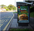 ST3089 : McDonald's Double Quarter Pounder with cheese advert, Malpas Road, Newport by Jaggery