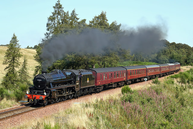 A steam special on the Borders Railway at Cowbraehill