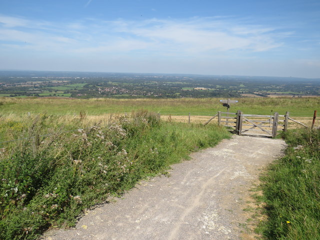 Path on the South Downs, near Ditchling Beacon