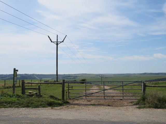 Footpath and gate near Brighton
