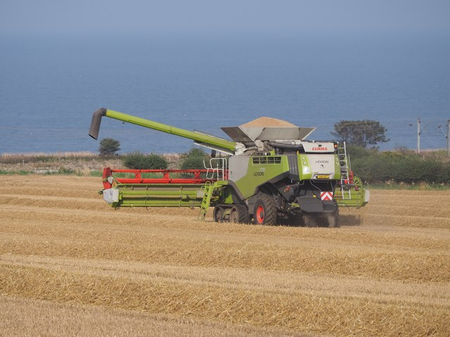 Claas Combine has finished cutting Wheat at Birnieknowes