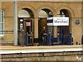 SK5360 : Mansfield Station, booking hall, platform side by Alan Murray-Rust