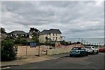 SZ5881 : Shanklin: Chine Avenue: Building site by Michael Garlick