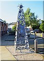 SO9445 : Artwork outside Abbey Park Middle School (2), Park Road, Pershore, Worcs by P L Chadwick