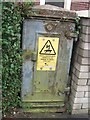 SH5872 : Old electrical cabinet on Dean Street, Bangor by Meirion