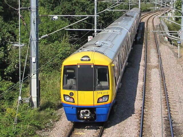Class 378 train on London Overground, near North Acton