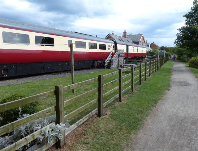 Railway carriages at former Hawsker railway station