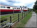 NZ9208 : Railway carriages at former Hawsker railway station by Mat Fascione