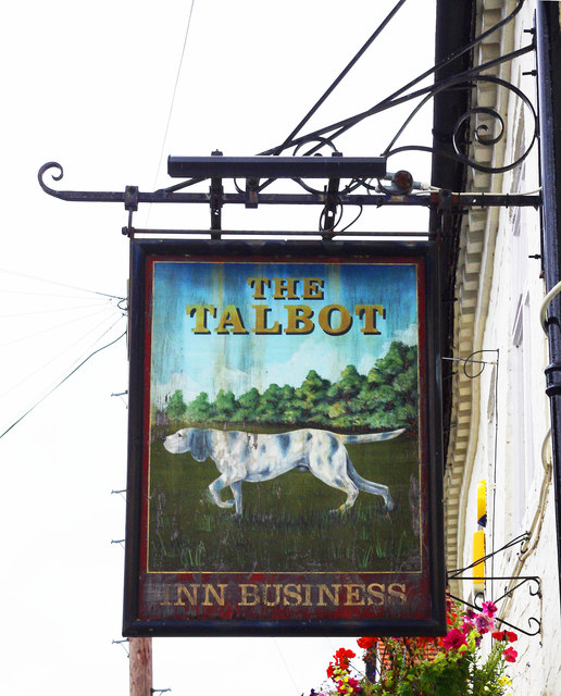 The Talbot (2) - sign, 52 Newlands, Pershore, Worcs