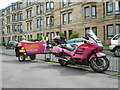 NS6165 : Motorcycle and trailer by Richard Sutcliffe