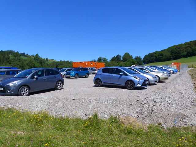 Temporary car park for visitors to Pooley Bridge