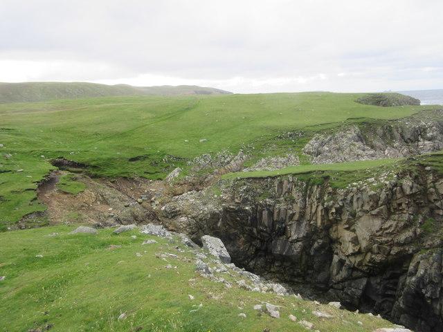 Rugged coast of North Roe
