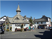 SX7087 : Market House, The Square, Chagford by Vieve Forward