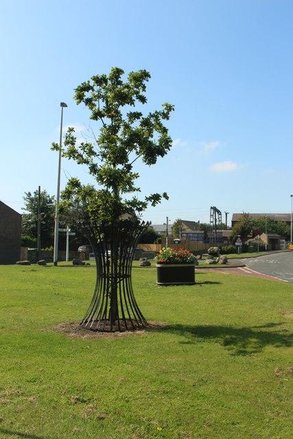 Commemorative Oak Tree, Widdrington Station