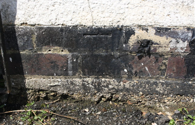 Benchmark on shed of #62 Willow Brook Road