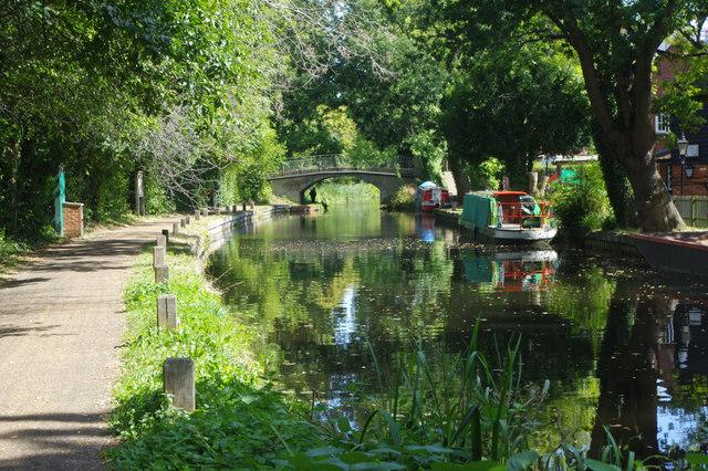Basingstoke Canal west of Arthur's Bridge