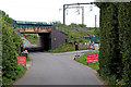 SK1509 : Railway bridge over Huddlesford Lane in Staffordshire by Roger  Kidd