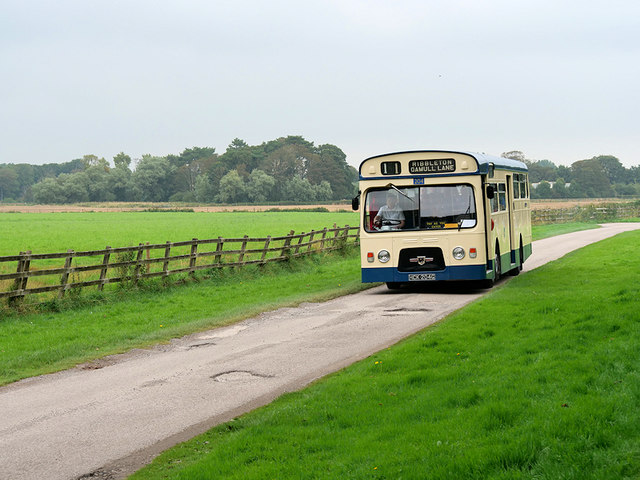 Bus in the Grounds of Lytham Hall