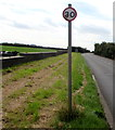 SS9271 : Reminder of the 30mph speed limit on the B4265 in Wick, Vale of Glamorgan by Jaggery