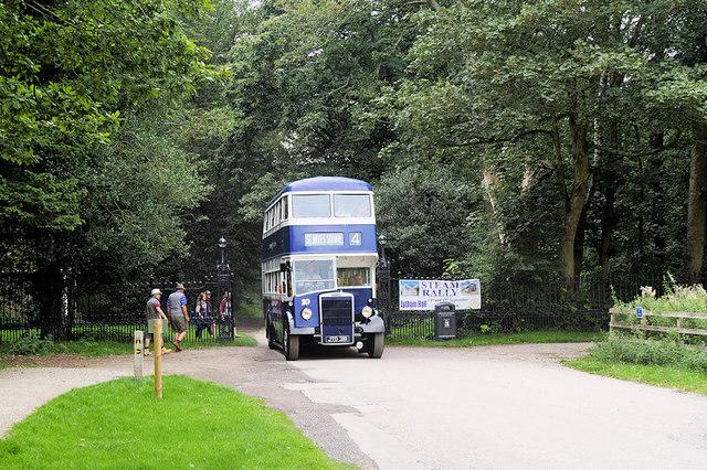 Double Decker Leaving Lytham Hall