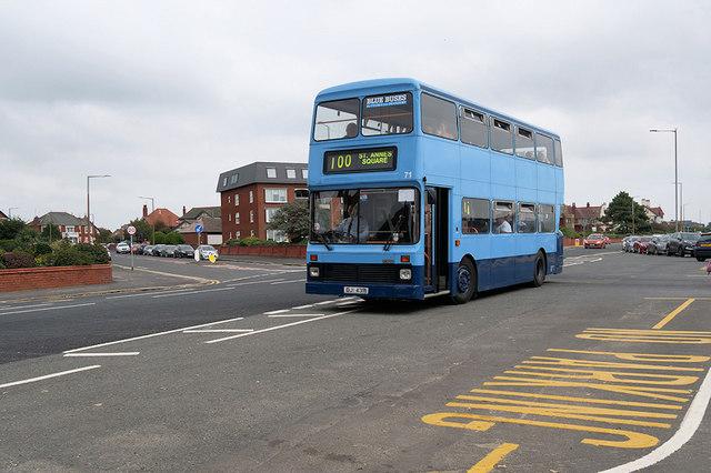 Fylde Blue Bus at Fairhaven