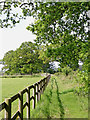SK1409 : Bridleway south-east of Huddlesford in Staffordshire by Roger  Kidd