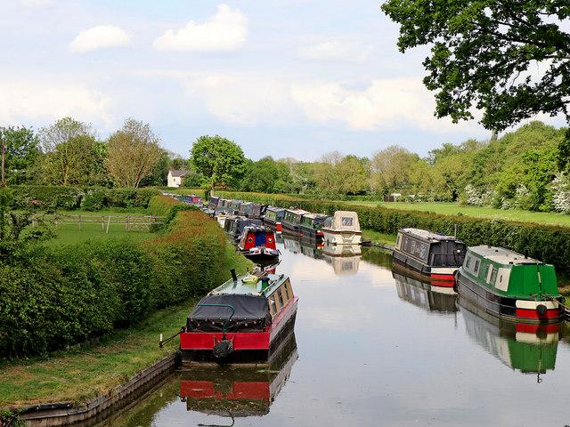 Wyrley and Essington Canal remnant near Huddlesford, Staffordshire