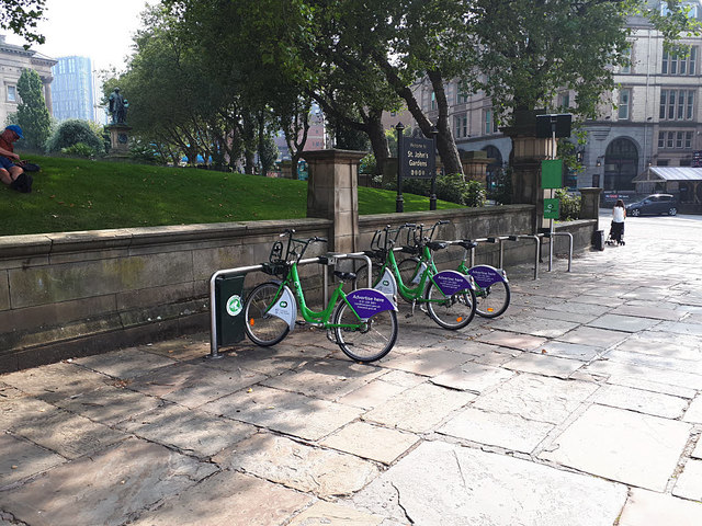 Cycle hire, St John's Garden, Liverpool
