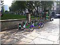SJ3490 : Cycle hire, St John's Garden, Liverpool by Stephen Craven