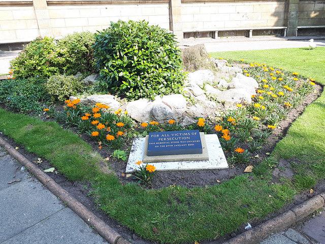 Persecution Memorial, St John's Garden, Liverpool