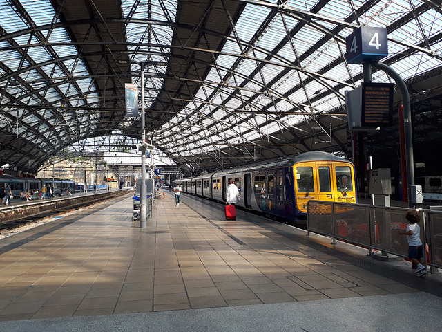 Electric train at Lime Street station
