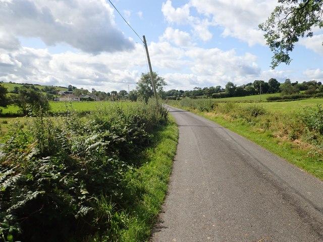 View West-southwest along Lisleitrim Road