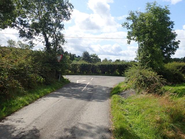 The Western end of Lisleitrim Road