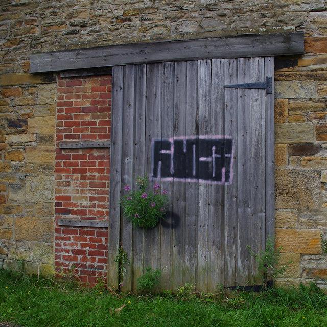 Warehouse or workshop door