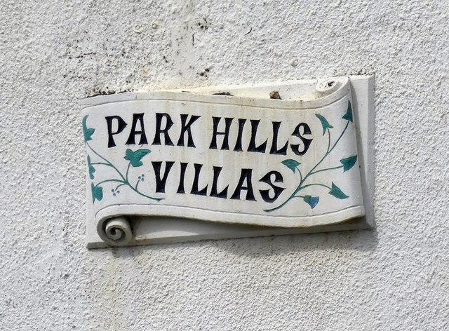 Park Hills Villas: Name plaque