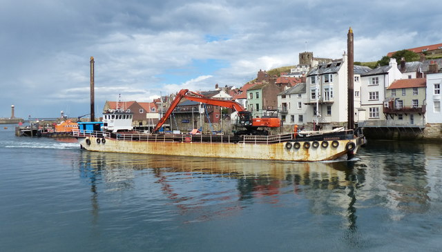 Sandsend dredger on the River Esk, Whitby