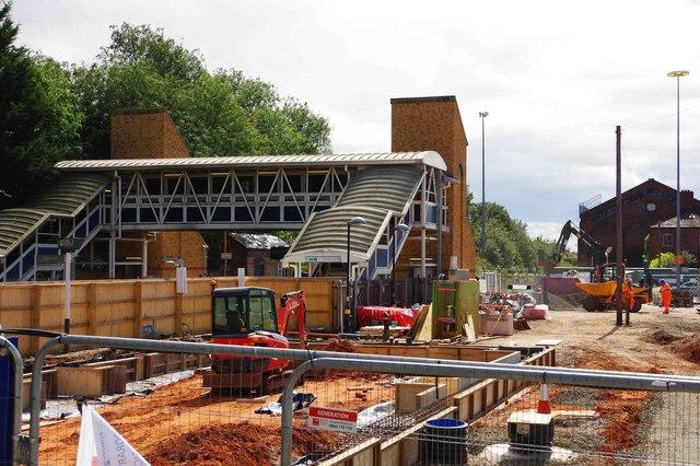 The rebuilding of Kidderminster Railway Station (2), Kidderminster, Worcs
