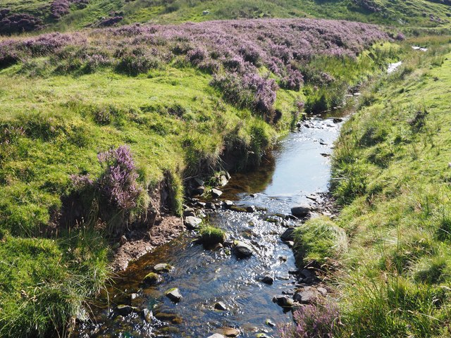 A stream at Johnscleugh above Garvald